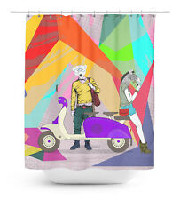 Funny Character Waterproof Printed Shower Curtain Roller  Drapes - FY-SCTD125A