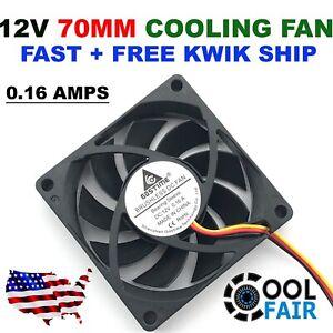 12v 70mm DC Cooling Fan 70x70x15mm 7015 Computer Case CPU 3pin