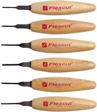 Flexcut Mixed Profile Micro Tool Set Knife MT910 Includes six 1.5mm Profiles: Ch