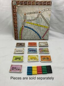PICK-A-PART for Ticket To Ride -Replacement Parts Pieces Cards Trains Gameboard