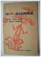ART NOUVELLE GUINEE HAUT MOROBE BAS SEPIK - EXPOSITION MUSEE DE L'HOMME 1956