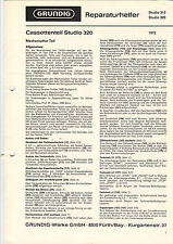 Grundig Service guía manual Studio 310 320 b1060
