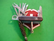 NTSA SWISS ARMY VICTORINOX MULTIFUNTION POCKET KNIFE WOODEN SWISS CHAMP
