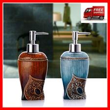 Resin Liquid Soap Dispenser Bathroom Kitchen Bath Lotion Shampoo Pump Bottle NEW