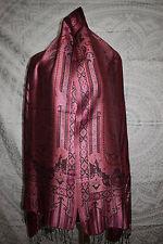 Silk. Indian Shawl. Reversible Jamavar Shawl. Jamawar Stole 1012