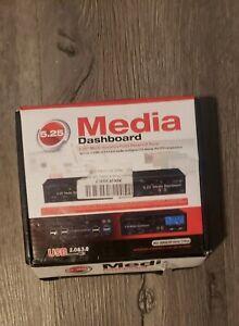 "5.25"" Media Dashboard Card Mult-Reader USB 2.0 USB 3.0 20 pin e-SATA Front Panel"