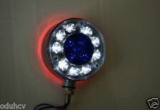 2x única 24v rojo/blanco / Azul Cromo LED Lateral Trasero Luces de marcaje