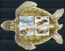 Sao Tome 2002 WWF tortues Turtles des animaux marins bloc 419 Neuf sans charnière
