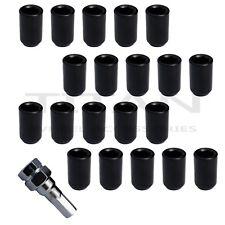 20pcs Black Hex Style Tuner Lug Nuts | 12x1.25 fits Subaru WRX Impreza BRZ +KEY