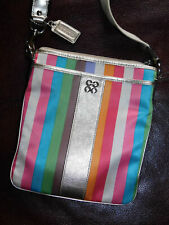 Coach Julia Striped Legacy Swing Pack Cross Body Bag 46801