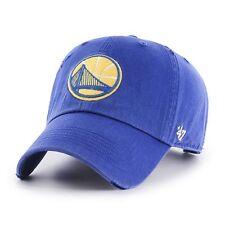 GOLDEN STATE WARRIORS CAP 47 BRAND RIDGE CLEAN UP STRAPBACK DAD HAT