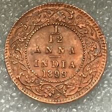 1899  BRITISH INDIA 1/12 ANNA COIN, VICTORIA, flat rate shipping