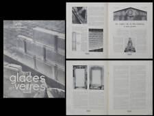 GLACES ET VERRES n°35 1933 HISTOIRE CADRE GLACE, BRIQUE DE VERRE STANDARD
