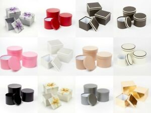 Floristry Lined Hat Boxes OASIS® Sets Of 3 Various Types And Colours Gifts