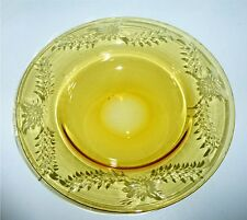 2 Pairpoint Cut Glass Amber Bowls