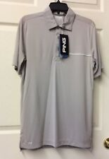 Ping Sensor Cool Golf Jersey Polo Men's Shirt Small Gray NWT