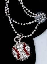 New Baseball Austrian Crystal Charm Silver Tone Chain Anklets Let's Play Ball