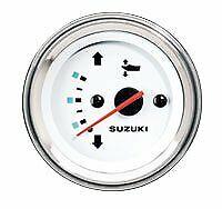 34800-93J11 New Suzuki Marine Outboard Motor 2in White Trim Gauges