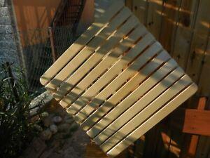 Pedana  doccia in legno 70 x 70 (Misure a richiesta)