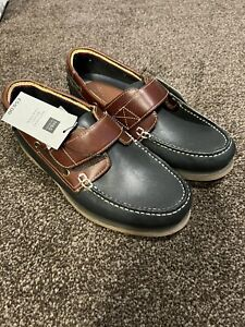 Men's Boat Shoes M&S New Without Box Size UK6 Leather Upper Rubber Sole RRP £59