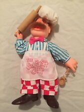 "Vintage 1988 Rare Muppets The Swedish Chef Plush 13"" Figure Complete"