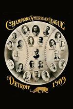 Detroit Tigers 1909 American League Champions Postcard - Player Portraits
