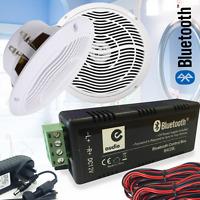 UKDJ 80w Wireless Bluetooth Home Bathroom Moisture Resistant Ceiling Speaker Kit