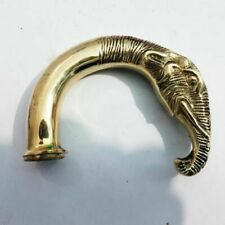Nautical Brass Elephant Head Handle for Vintage Style Wooden Walking Stick Canes