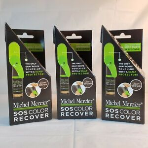 X 2 Michel Mercier SOS Color Recover Black for Gray Roots Touch-ups