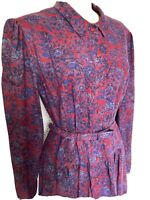 Origin, Viyella Fabric Tea Dress,1980s Floral Puff Sleeve Midi Liberty Vintage14