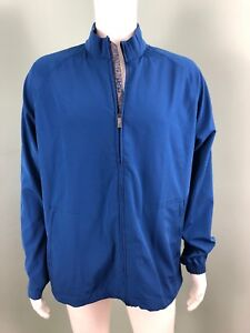 NWT Men's Adipure by adidas Elements Blue Wind Golf Zip Up Jacket Sz L Large
