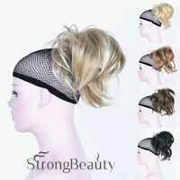 Ponytail Clip-on Short Straight Ponytail Extensions Hair Hairpieces