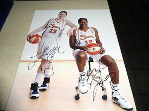 LINDSAY WHALEN  & ASJHA JONES AUTOGRAPHED 8X10 PHOTO CONNECTICUT SUN WNBA