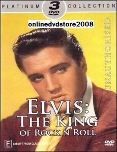 ELVIS PRESLEY - The KING of ROCK N ROLL - Music Doco (3 DVD SET) NEW SEALED
