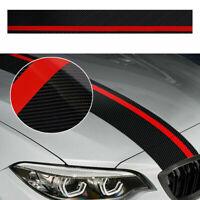 1x Car Rally Racing Stripe Sticker Front Hood 5D Carbon Fiber Decal Accessories