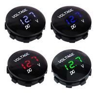 12V 24V Voltage Meter Car Marine Motorcycle LED Digital Voltmeter Battery Gauge