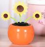 Solar Power Flip Flap Flower Car Home Decoration Swing Dancing Flowers Toy Gift