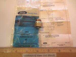 """FORD 1980/1989 MUSTANG & OTHERS """"CONNECTOR"""" (W/FORD P/S, OUTLET LINE 3/8"""") NOS"""