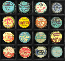 Vintage Lot Of 16 Different Cream Soda Cork Bottle Caps - Assorted