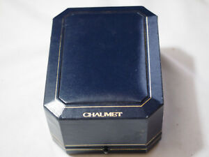 Original CHAUMET INNER BLUE LEATHER Watch BOX w/ COA & extra Stainless gold LINK