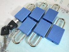 (6 Pcs) Mini cadenas Matt couleur bleue Petit Minuscule Serrure de Coffre avec clés