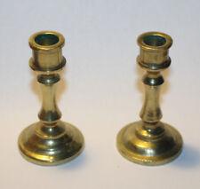 Miniature Brass Candlestick Set 2 PC