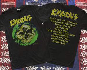 EXODUS Vintage 80's Tour 1989 Fabulous T-Shirt new adult