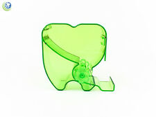 Dental Cotton Roll Dispenser Molar Shaped See-through Lime Green Dental Emporium