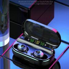 Ecouteurs 5.0 bluetooth universel sport voiture moto avec support chargeur USB