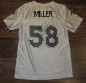 NFL Denver Broncos Von Miller Girls Jersey, White Size M/L (10-12) NEW, REG, $28