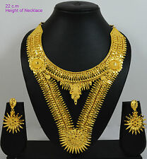 Double Set Fancy Spike Gold Forming Necklace Earring Set for Women