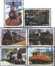Sao Tome e príncipe 1540-1545 (compl.edición) usado 1995 ferrocarriles