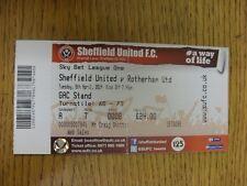 08/04/2014 BIGLIETTO: Sheffield United V Rotherham United [completa] BIGLIETTO (piegato