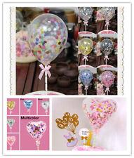 UK Confetti Latex Balloon Cake Topper Ribbon Dessert Birthday Gold Party Decor